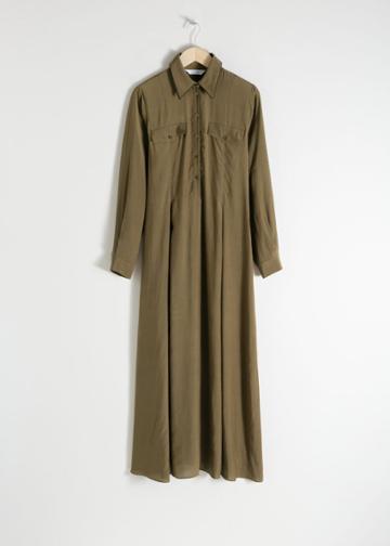 Other Stories Lyocell Blend Maxi Dress - Green