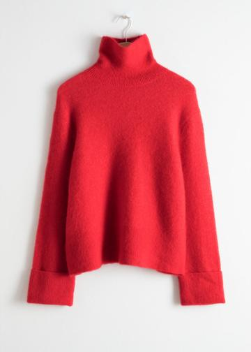 Other Stories Alpaca Blend Turtleneck - Red