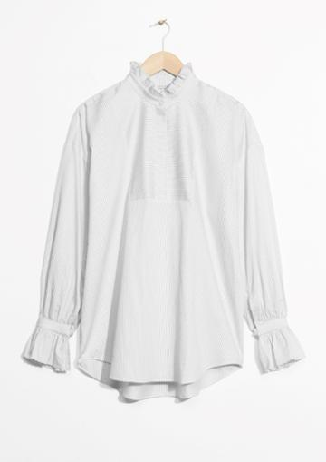 Other Stories Scallop Edge Blouse
