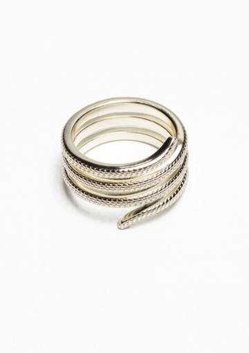 Other Stories Snakey Gold Ring