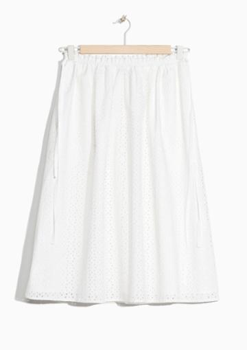 Other Stories Broderie Anglaise Skirt