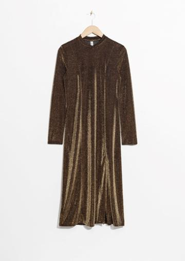 Other Stories Shimmery Midi Dress