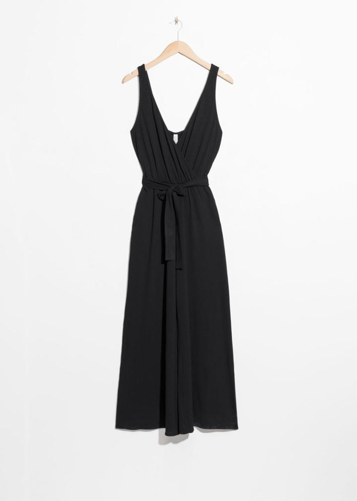 Other Stories Belted Wrap Jumpsuit - Black