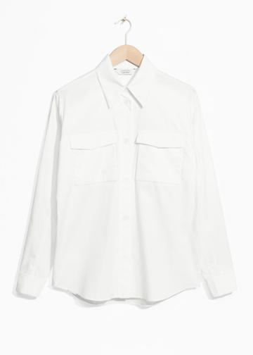 Other Stories Structured Cotton Shirt - White