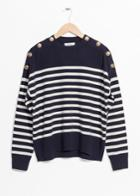Other Stories Stripe Knit Sweater - Blue