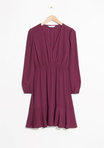 Other Stories Wrap Neck Dress