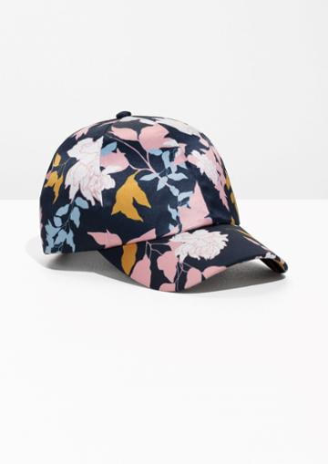 Other Stories Printed Satin Cap