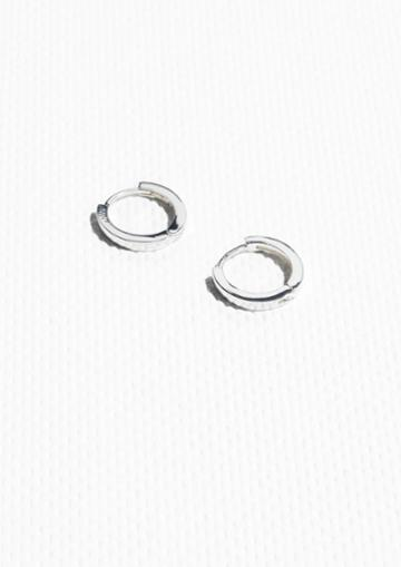 Other Stories Joint Brass Hoop Earrings