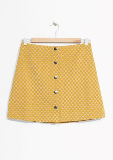 Other Stories Mini Skirt With Button Closure
