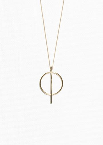 Other Stories Geometric Circle Necklace