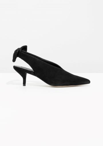 Other Stories Kitten Heel Slingback Pumps