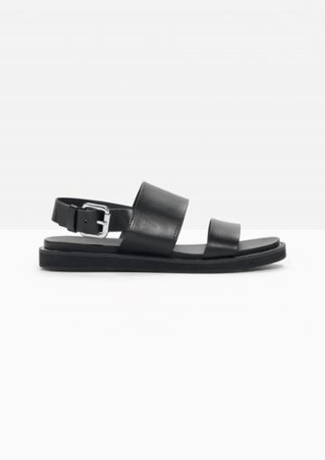 Other Stories Raw Edge Leather Sandals