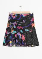Other Stories Coral Reef Flounce Skirt - Black