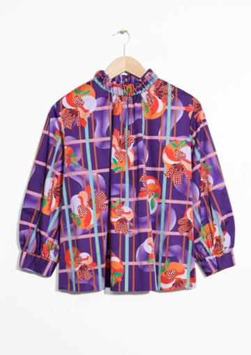 Other Stories Fruity Print Blouse