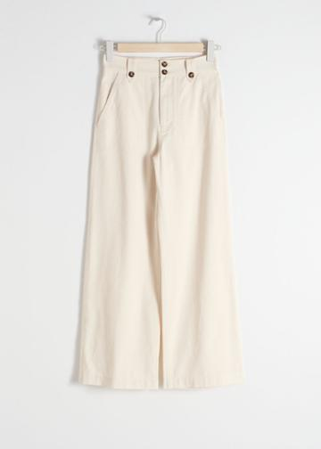 Other Stories Cotton Twill Culottes - White