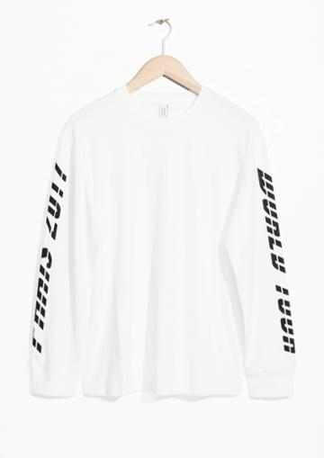 Other Stories Print Sleeve Sweater