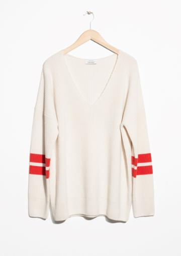 Other Stories Stripe Sleeve Sweater
