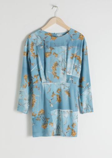 Other Stories Leopard Print Dress - Blue
