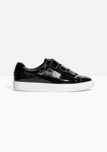 Other Stories Scratch Strap Patent Leather Sneaker