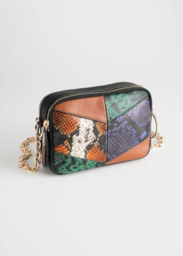 Other Stories O-ring Chain Crossbody Bag - Orange
