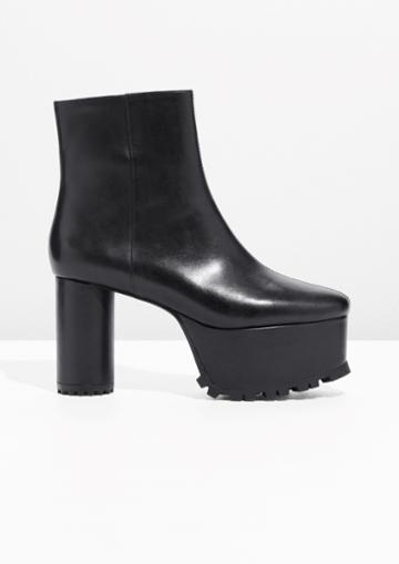 Other Stories Leather Platform Boots
