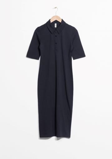 Other Stories Piqu Collar Dress