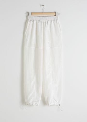 Other Stories Drawstring Jogger Trousers - White