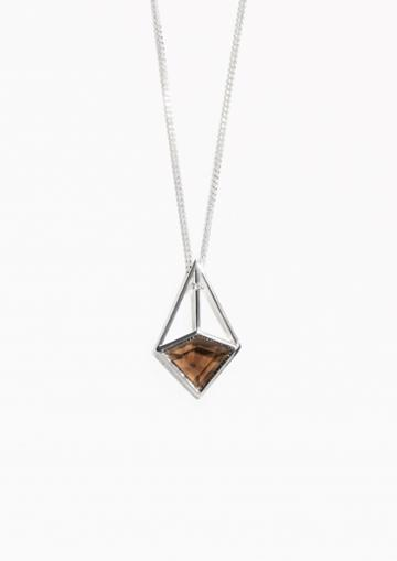 Other Stories Prism Stone Pendant Necklace