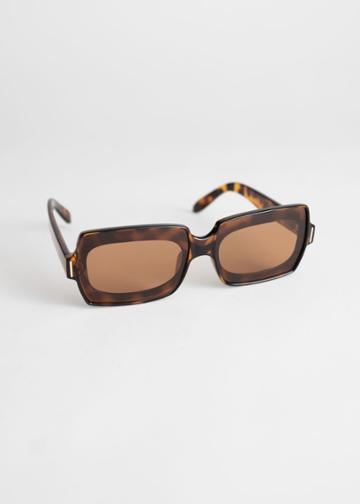 Other Stories Square Frame Sunglasses - Beige