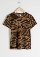 Other Stories Organic Cotton Zebra T-shirt - Yellow