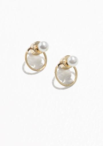 Other Stories O-ring Pearl Earrings
