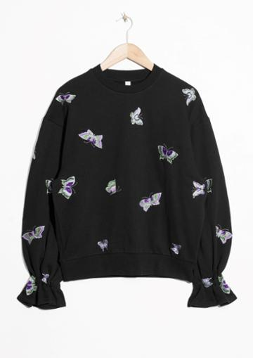 Other Stories Embroidered Sweatshirt