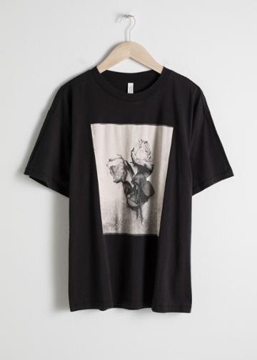 Other Stories Graphic Print T-shirt - Black