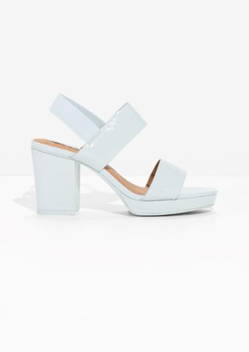 Other Stories Heeled Patent Leather Sandals