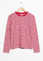 Other Stories Striped Long Sleeve Tee - Red