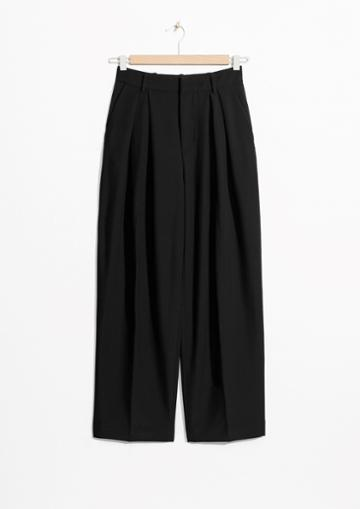 Other Stories High Cropped Wide Trousers