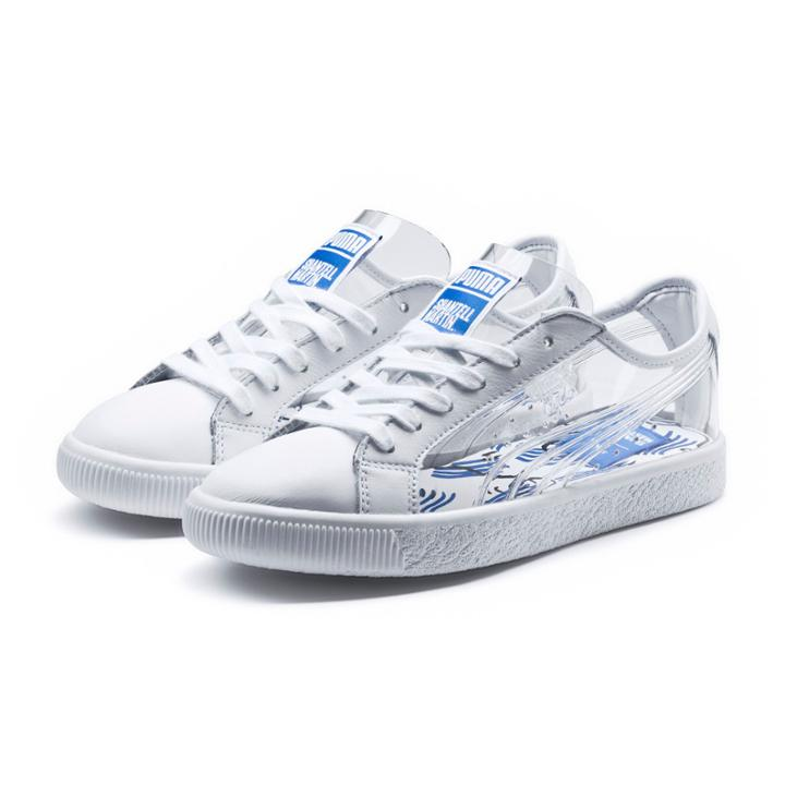 save off 0b9d2 c5bf5 Puma X Shantell Martin Clyde Clear Sneakers | LookMazing