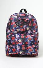 Vans Realm Black Floral Backpack