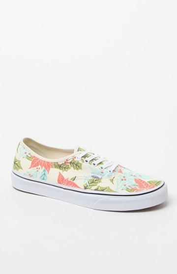 Vans Van Doren Authentic Poinsettia Print Shoes