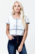 Rvca Undone French Terry Cropped Top