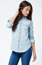 Bullhead Denim Co. Destructed Denim Shirt