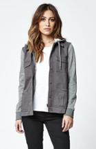 Element Hey Lady Canvas & Fleece Hooded Jacket