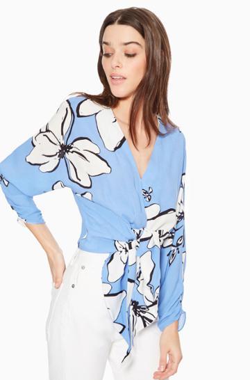 Https:/www.parkerny.com/tasmin-blouse/p8a5127wkr.html Parker Ny Tasmin Blouse Noelle Floral, Size Xxs