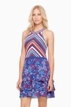 Parker Ny Waverly Knit Combo Dress
