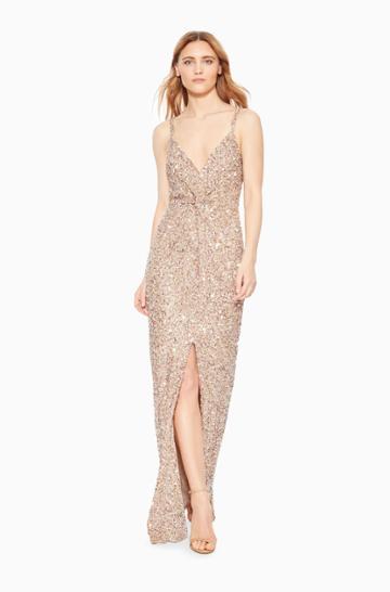 Parker Ny Luna Strappy Slit Dress