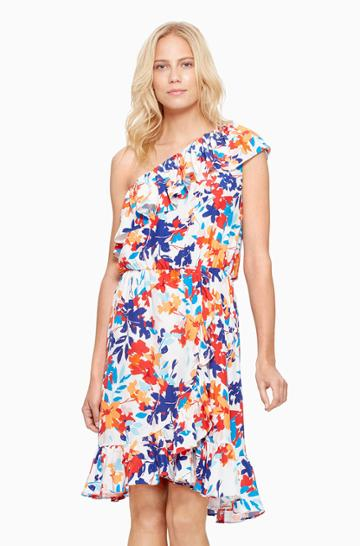 Parker Ny Beverly One-shoulder Dress