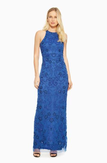 Https:/www.parkerny.com/ellie-dress/b7a4225lfo.html Parker Ny Ellie Dress Cobalt Sequin, Size 2