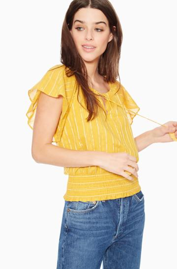 Parker Ny Sasha Striped Top
