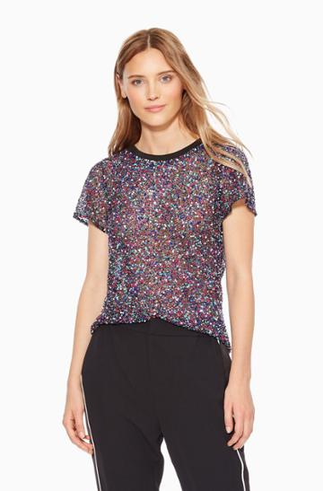 Parker Ny Anna Sequined Top