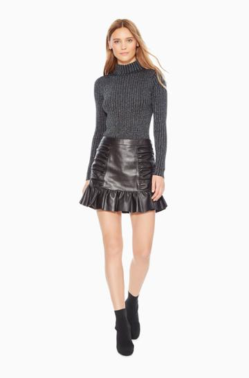 Parker Ny Alexandra Leather Skirt